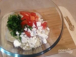 Салат с пастой, баклажанами и брынзой - фото шаг 8