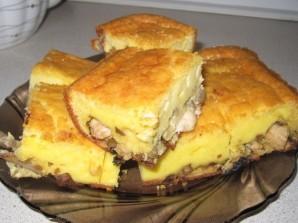 Пирог с грибами и курицей - фото шаг 6