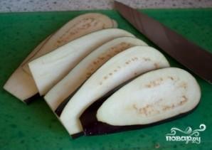 Рулетики из баклажанов с сыром фета - фото шаг 1