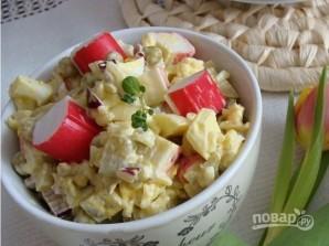 Салат из крабовых палочек и яиц - фото шаг 4