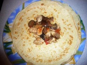 Мешочки с курицей и грибами   - фото шаг 4