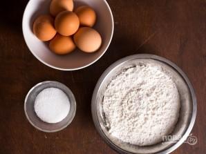 Рецепт теста для спагетти - фото шаг 1