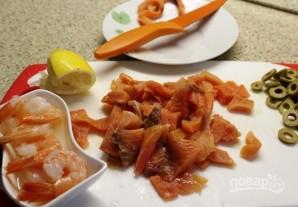Салат с креветками и овощами - фото шаг 3