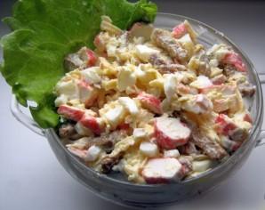 Салат обалденный с сухариками - фото шаг 3