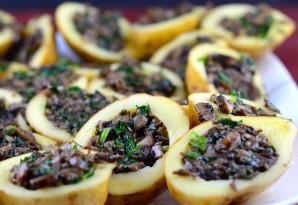 Картошка, фаршированная грибами, в духовке - фото шаг 2