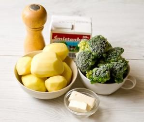 Пюре картофельное с брокколи - фото шаг 1