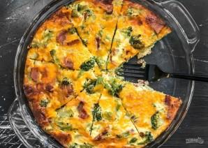 Киш с брокколи и сыром - фото шаг 9