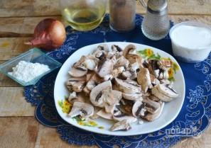 Запеченные блины с курицей и шампиньонами - фото шаг 10