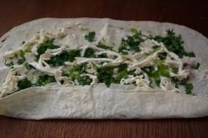 Лаваш с плавленым сыром и зеленью  - фото шаг 5