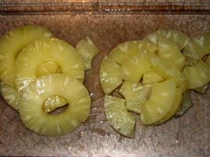 Салат в персиках - фото шаг 3