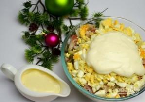 Салат с кукурузой, рисом и копченой скумбрией - фото шаг 9