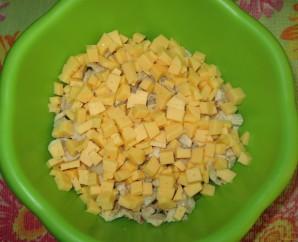 Салат с маслинами и курицей - фото шаг 4