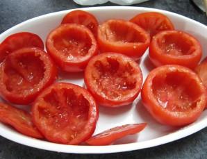 Фаршированные помидоры фаршем в духовке - фото шаг 2