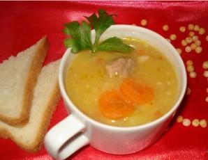 Гороховый суп с мясом в мультиварке - фото шаг 4