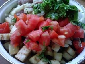Рецепт мяса с овощами в рукаве - фото шаг 8