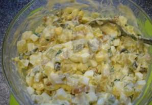 Салат с копченым кальмаром   - фото шаг 6
