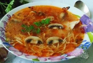 Суп с томатной пастой и лапшой - фото шаг 5