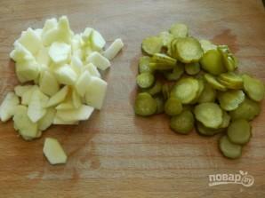 Салат с сельдью по-цёблицки - фото шаг 2