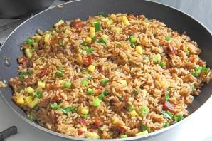 Жареный рис со свининой - фото шаг 11