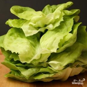 Мясо по-азиатски на листьях салата - фото шаг 1