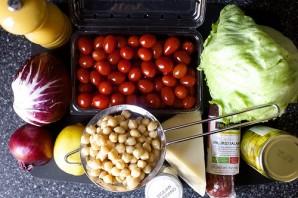 Салат с нутом и колбасой - фото шаг 1