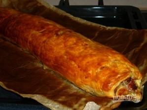 Мясной пирог в духовке - фото шаг 8