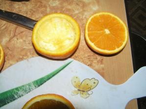 Желе в апельсине - фото шаг 2