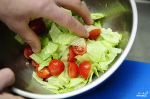 Салат из стручковой фасоли с курицей - фото шаг 13