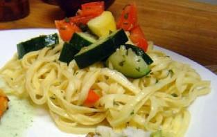 Лингвини с овощами - фото шаг 5