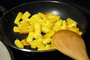 Салат с курицей и ананасами - фото шаг 3