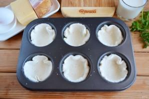 Хлебные корзиночки с начинкой - фото шаг 4
