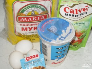 Картофельный пирог с луком - фото шаг 1