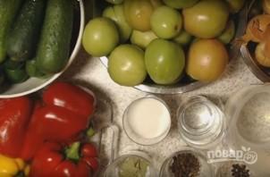 Салат из помидор и огурцов на зиму - фото шаг 1