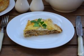 Блинный пирог с фаршем - фото шаг 9