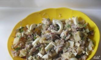 Салат картофельный с сельдью - фото шаг 3