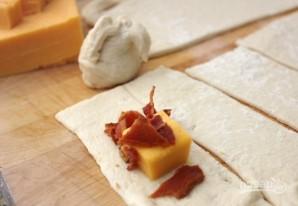 Узелки с беконом и сыром - фото шаг 1