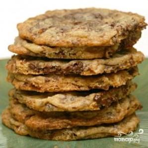 Традиционное шоколадное печенье с орехами - фото шаг 5