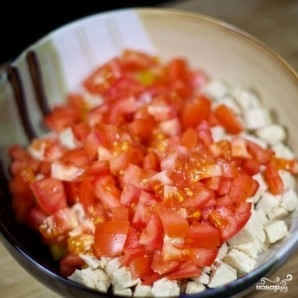 Салат с курицей и овощами - фото шаг 4