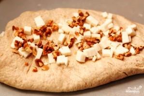 Домашний хлеб с орехами, базиликом и козьим сыром - фото шаг 6
