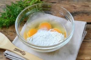Торт из яичных блинов с куриной начинкой - фото шаг 2