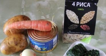 Суп из консервы с рисом - фото шаг 1