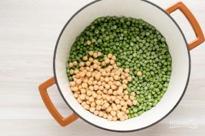 Суп-пюре из горошка и нута - фото шаг 3