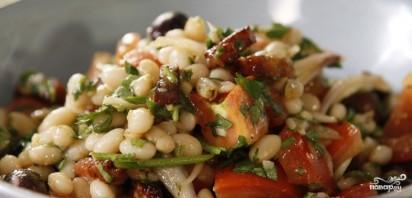 Теплый салат с фасолью - фото шаг 9