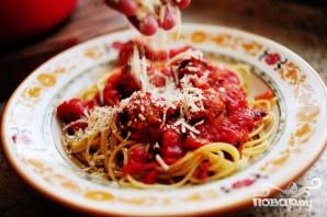 Спагетти с фрикадельками и соусом - фото шаг 6