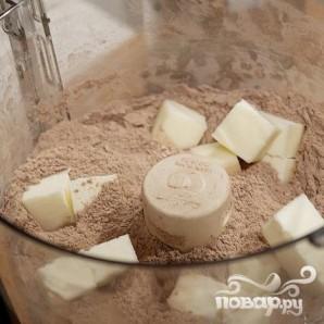 Шоколадные коржики с кремом и клубникой - фото шаг 2