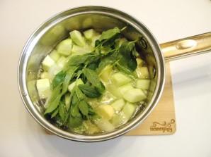 Суп из кабачков с мятой - фото шаг 4