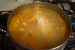Суп затирка с мясом - фото шаг 10