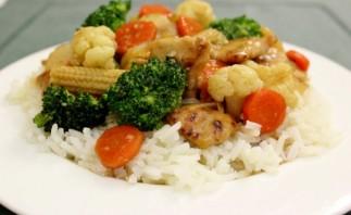 Стир-фрай из курицы с овощами - фото шаг 11