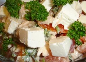 Салат с брынзой и курицей - фото шаг 3