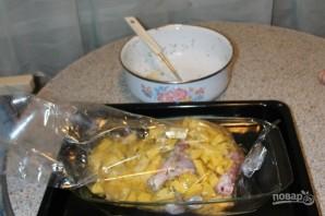 Картошка с курицей в рукаве - фото шаг 3